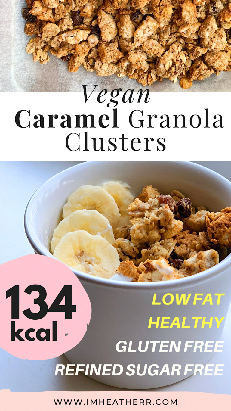 imheatherr Skinny Caramel Granola Clusters Recipe: 30 minute, gluten free, vegan, healthy, weight watchers friendly and super easy!